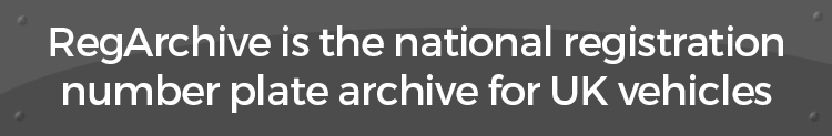 RegArchive is the national registration number plate archive for UK vehicles